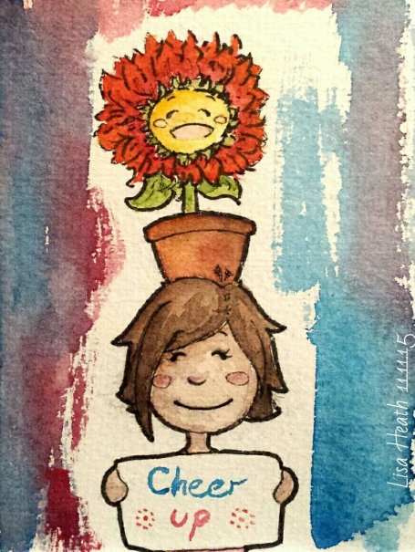 ...said the flower and smiled brightly.